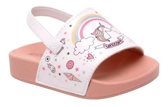 Chinelo Slide Infantil Molekinha 2125105 Branco