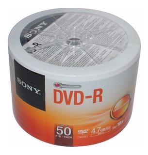 Disco Dvd Sony 4.7gb 16x Cono X 50 Unid. Bueno