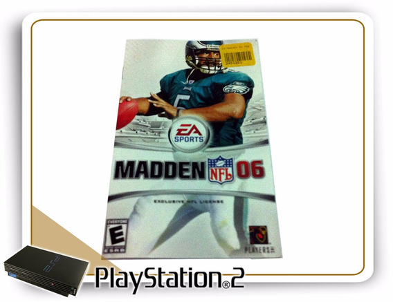 Ps2 Manual Madden Nfl 06 Original Playstation 2