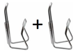 2 Suportes Caramanhola Garrafa Squeeze Alumínio Bike Par Kit