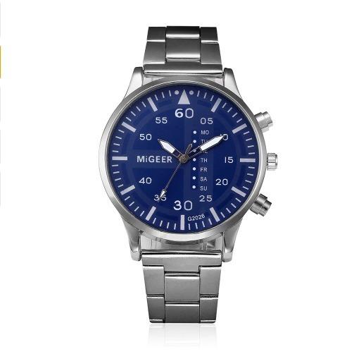 Relógio Dos Homens Homens Moda Aço Inoxidável Analógico Quar