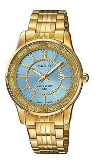 Reloj Casio Para Mamá. 100% Acero Dorado, Sumergible, Wr50.