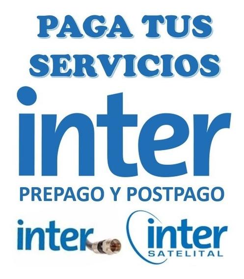 Recargas Inter Cable Inter Satelital Prepago Y Postpago