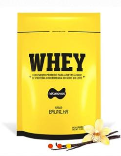 Whey Protein Concentrado 907g Naturovos Sabor Baunilha