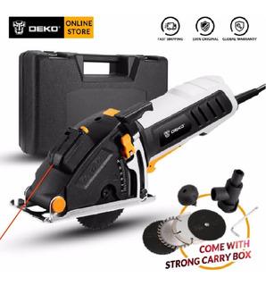 Serra Circular Mini Deko Qd6905lr C/guia A Laser + 4 Lâminas