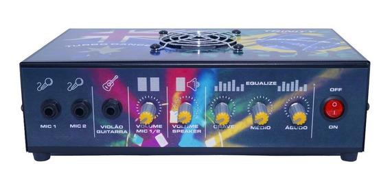Mesa De Som Amplificada Turbo Dance Trinity 300w Rms