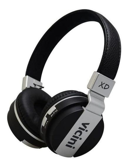 Headphone Sem Fio Bluetooth Preto - Vicini Xd Vc71