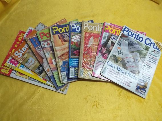 Lote Com 7 Revistas Manequim Ponto Cruz Croches Monogramas