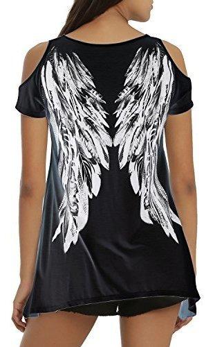 Tulucky Camisetas Sueltas Para Mujer Con Diseño De Alas De