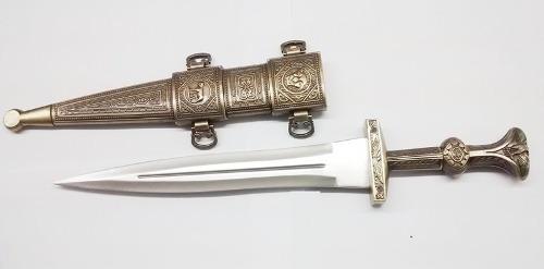 Espada Adaga Romana Gladius Sword Gladiador Bainha Descorada