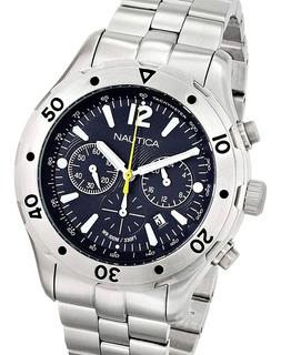 Reloj De Hombre, 100% Acero Macizo Sumergible, Cronógrafo.