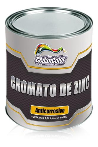Pintura Cromato De Zinc 1/4 De Gal  Alta Protección