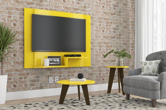 Painel Enzo Amarelo Para Tv Até 47 Polegadas