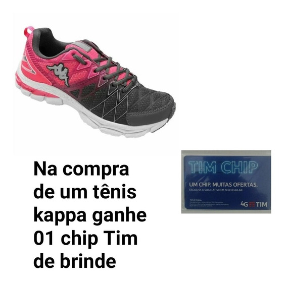 Tenis Kappa Feminino. Compre E Ganhe Um Chip Tim De Brinde.