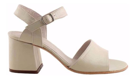 Sandalia Cuero Mujer Briganti Zapato De Vestir - Mcsd04582