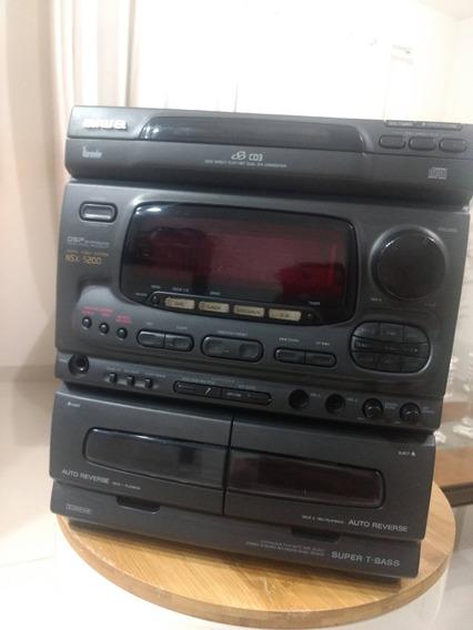 Micro System Aiwa Nsx 5200 Dsp Super T-bass Laser Disc