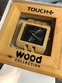 Relógio Touch Wood - Madeira