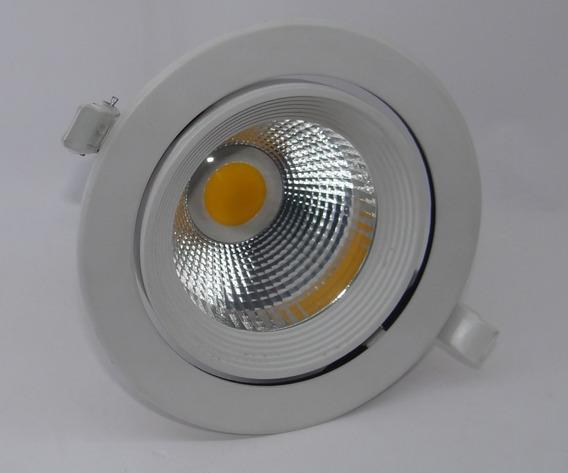 Luminária Alumínio De Embutir P/ Loja Super Led 20w Quente