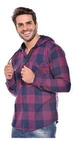 Camisa Social Xadrez Flanelada Com Touca Ref 006