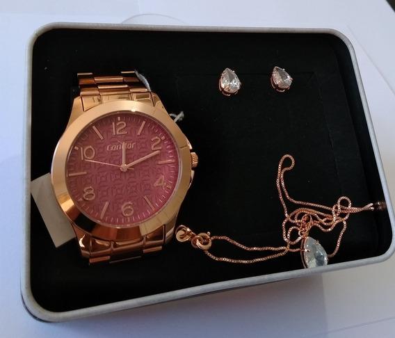 Relógio Dourado Feminino Condor Original Co2035kmn/4d.