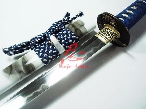 Imagem 1 de 9 de Espada Forjada Aço Damasco Katana Samurai Afiada Com Corte