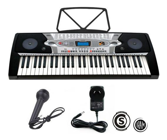 Teclado Musical Organo Piano Niños 54 Teclas Display Lcd T