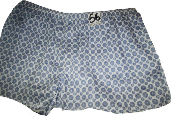 Calzones Boxer Blanco Con Azul Estampado Talla 56 Healt Ride