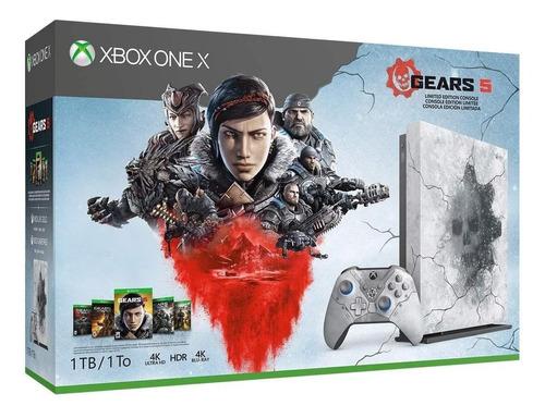 Microsoft Xbox One X 1TB Gears 5 Limited Edition artic blue