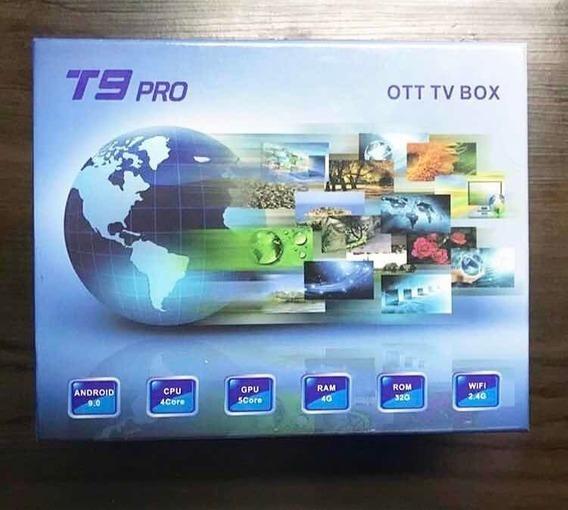 Tv Box T9 Pro 4k Uhd Android 9 Quad Core 32gb Com Memória