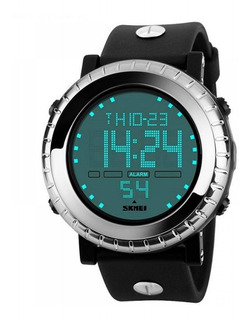 Relógio Digital Masculino Skmei Digital 1172 - Preto E Prata