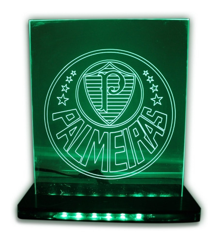 Imagem 1 de 8 de Luminária 3d Led - Futebol - Palmeiras - Decoração