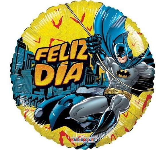 6 Globos Batman Centro De Mesa Surtido Met 9in Fiesta Decor