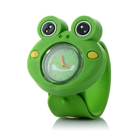 10pcs 3d Dibujos Animados Reloj Para Niños ( Rana )