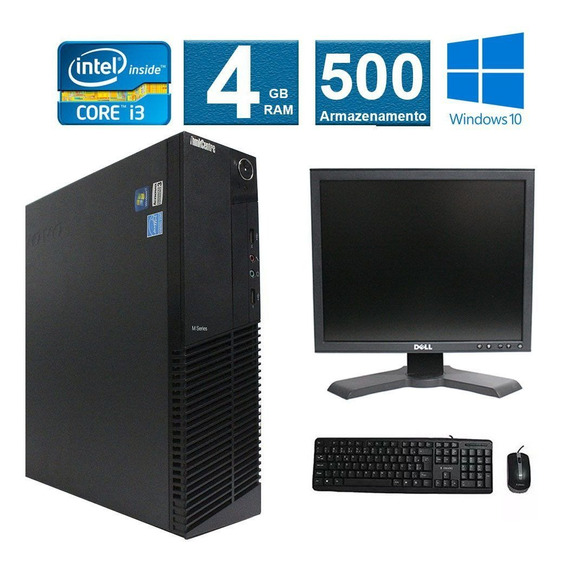 Computador Lenovo Thinkcenter M91 I3 4gb 500gb Monitor 17