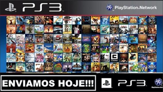 Pacote Com + De 1500 Jogos Ps3 Originais Midia Digital
