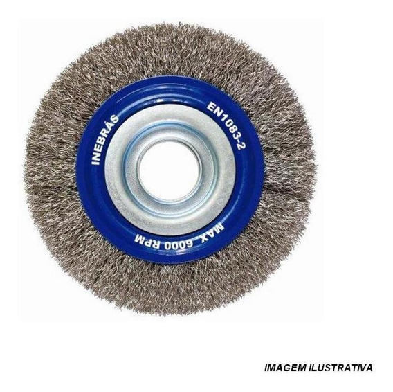 Escova Aco Circular 6000rpm 6x3/4 Inebras