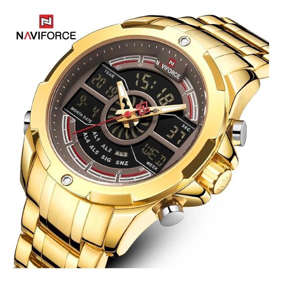 Relógio Naviforce 9170 Esporte Casual Digital E Analógico