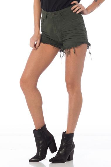 Shorts Feminino Setentinha Colorido Denim Zero - Dz6215-10
