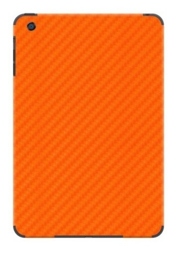 Adesivo Skin Garage42 Fibra De Carbono Laranja iPad Air