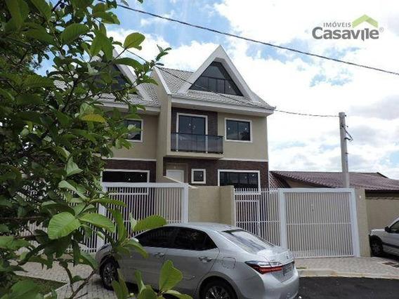 Sobrado Com 3 Dormitórios À Venda, 178 M² Por R$ 620.000 - Tingui - Curitiba/pr - So0041