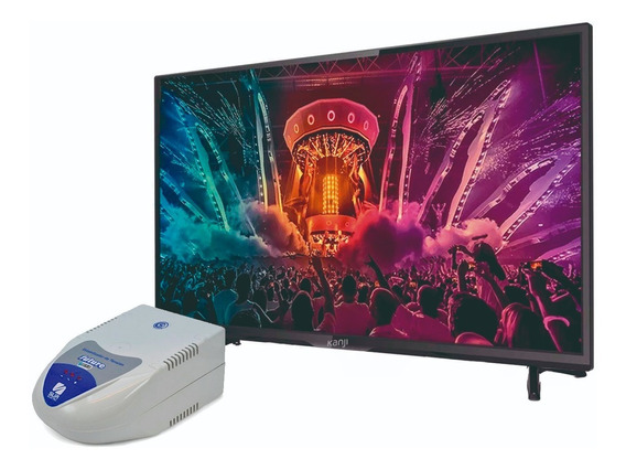 Combo Tv Monitor 24 Fullhd + Estabilizador Tension 6 Tom Hf