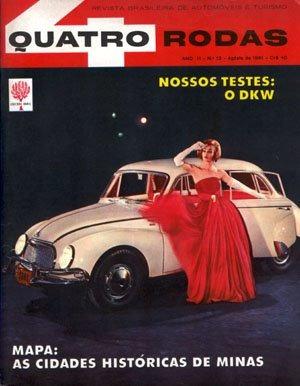 4r.013 Ago61- Teste Dkw Vemag 1000 Carro Antigo Minas Gerais