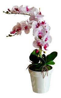 Arreglo Orquídeas Artificial De Seda