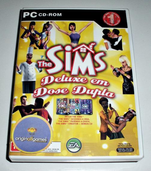 The Sims Deluxe Dose Dupla ¦ Jogo Pc Orig Lacr ¦ Mídia Físic