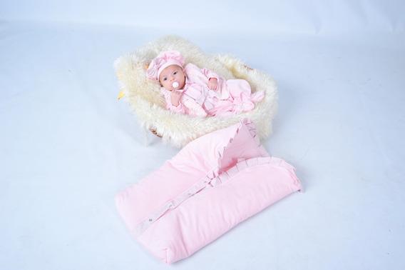 Kit Maternidade Rosa + Saco De Dormir - Princesa - Inverno