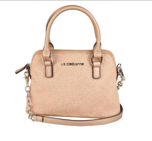 Imagen 1 de 4 de Bolsa Para Mujer Marca Liz Claiborne Color Rose Gold Brillo