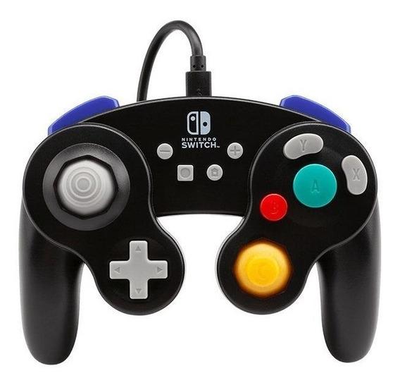 Controle joystick PowerA Wired Controller GameCube Switch preto