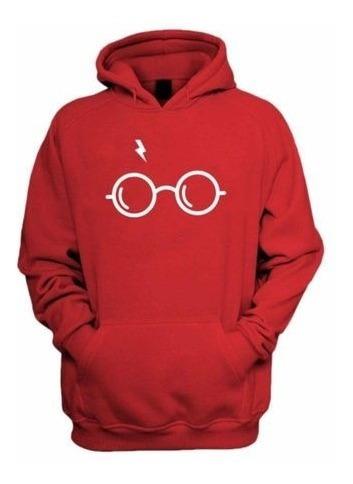 Moletom Casaco Blusa Frio Blusão Harry Potter Óculos Cicatri