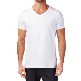 Camisetas Algodón Cuello V, Pack De 3 Unidades.