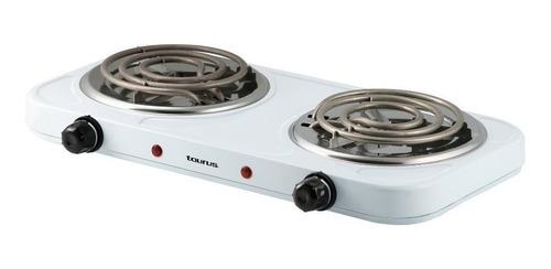 Parrilla eléctrica Taurus Fornax Duo blanca 110V